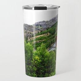 Ore Bucket from the Mayflower Mine, High on the Opposite Mountainside across the Animas River Travel Mug