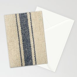 Vintage French Farmhouse Grain Sack Stationery Cards