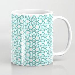 illustration green decorative seamless pattern floral motifs Coffee Mug