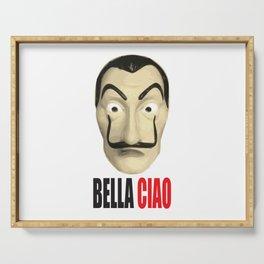 Dalí Mask La Casa de Papel Bella Ciao Serving Tray