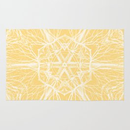 Mysterious trees - yellow Rug