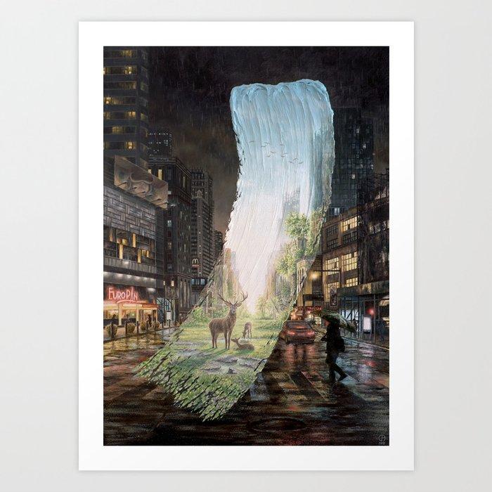 Recover - Brushstrokes in Time Art Print