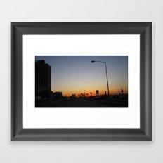 Sunset by The Strand Framed Art Print