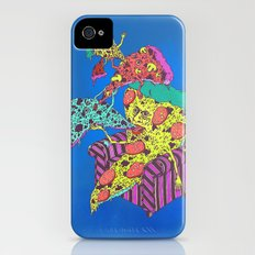Pizza Eating Pizza - Blue Edition Slim Case iPhone (4, 4s)