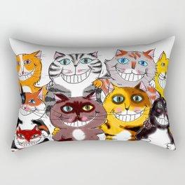 Happy Smiling Cats Rectangular Pillow