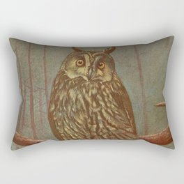 Vintage Illustration of an Owl (1902) Rectangular Pillow