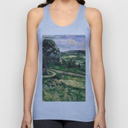 1881 - Paul Cezanne - The Tree by the Bend Unisex Tank Top