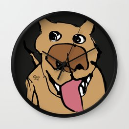 Citydog, beige/gray Wall Clock