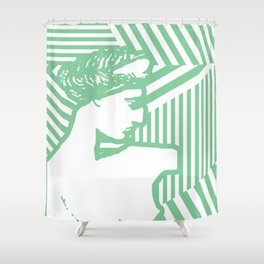 Gods Geometric - Aphrodite Shower Curtain