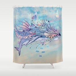 Journeying Spirit (Shark) Shower Curtain