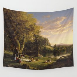 Thomas Cole - A Pic-Nic Party Wall Tapestry