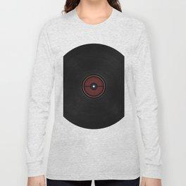Black record label Long Sleeve T-shirt