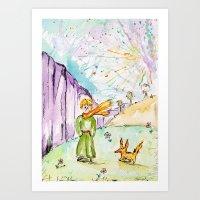 le petit prince Art Prints featuring Le petit prince by Colorful Simone