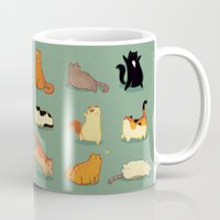 fat Mugs featuring Fat Cats by Kecky