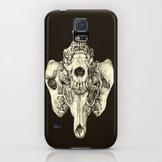 Coyote Skulls - Black and White Slim Case Galaxy S5