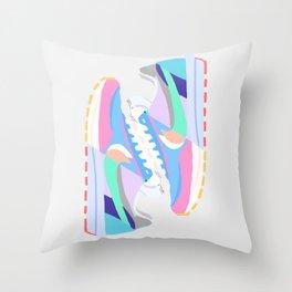 POP SNEAKERS Throw Pillow