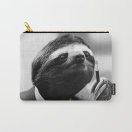 Gentleman Sloth smoking a cigarette Carry-All Pouch