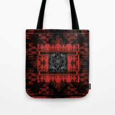 Red and Black Pattern Tote Bag