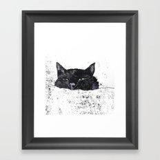 zzz cat Framed Art Print