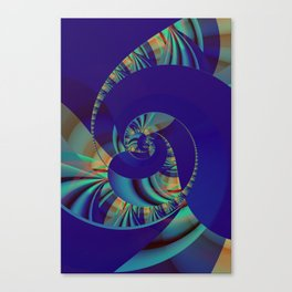 Blue Loop Canvas Print