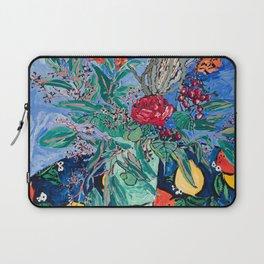 Australian Wildflower Bouquet with Citrus Print Still Life Painting Laptop Sleeve