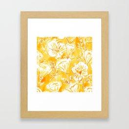 CALI POP Yellow California Poppies Framed Art Print