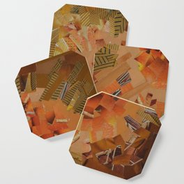"""""""The Hot Energy"""" Ecologic atypic art - 1/3 - by WHITEECO Ecologic design Coaster"""