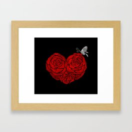 A Butterfly to be, a Rose to blossom... Framed Art Print