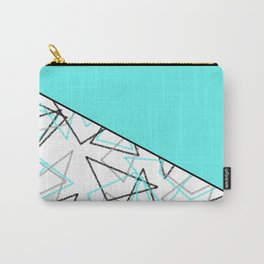 Abstract turquoise combo pattern . Carry-All Pouch