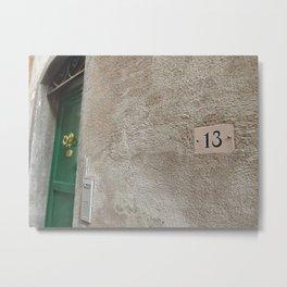 13 - Green Door Metal Print
