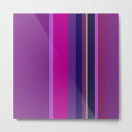 Spring collection - Orchid - Strips Metal Print