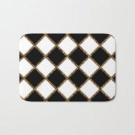 Geometric ornament gold seamless pattern Bath Mat