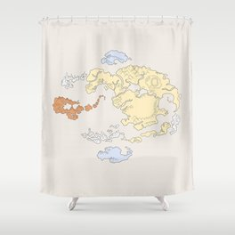 The Lay of the Land Shower Curtain