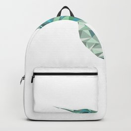 Geometric Hummingbird Teal Backpack