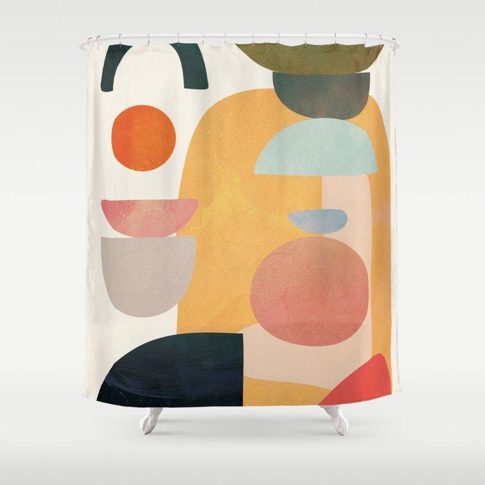 Modern Abstract Art 70 Shower Curtain