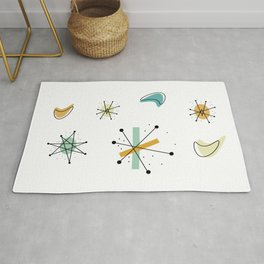 1950s Retro Atomic Pattern Rug