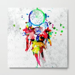 Dreamcatcher Grunge Metal Print