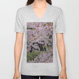 Cherry Blossom Time Unisex V-Neck