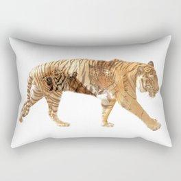 Tiger tripple exposure Rectangular Pillow