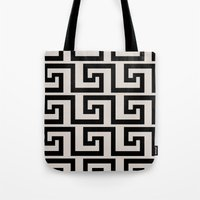 greek Tote Bags featuring Greek Key by Charlene McCoy
