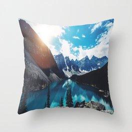 Lake Moraine Throw Pillow