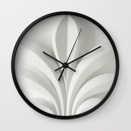 White sculpture Wall Clock