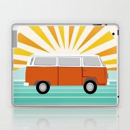 Peace, man - retro 70s hippie bus surfing socal california minimal 1970's style vibes Laptop & iPad Skin