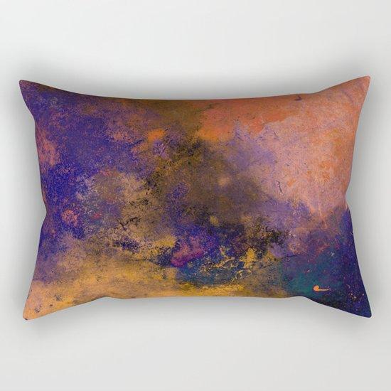 Inner Peace - Orange, red, blue, pastel, textured painting Rectangular Pillow