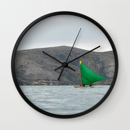 Titicaca sail 2 Wall Clock