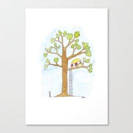 Caravan in a Tree Canvas Print