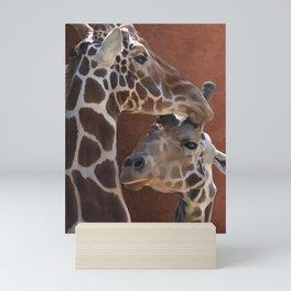 Endearing Giraffes Mini Art Print