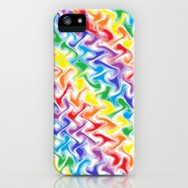 A Messy Rainbow iPhone Case
