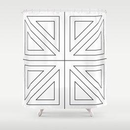 Angled 2 Black Shower Curtain