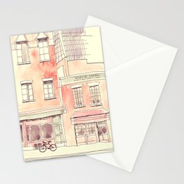 Coffee and Bikes Stationery Cards